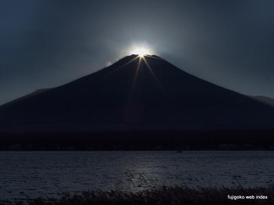 本日のダイヤモンド富士@山中湖〜ちょい霞み