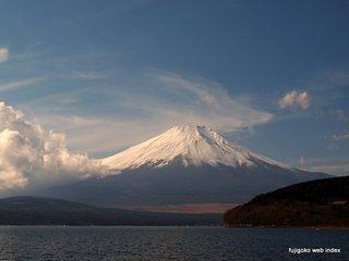 山中湖は今日も晴天ですが