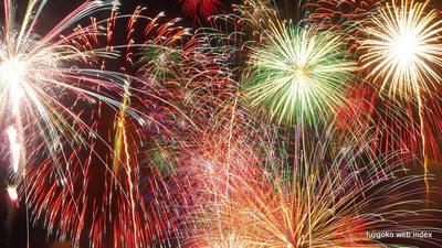 2014山中湖報湖祭の花火