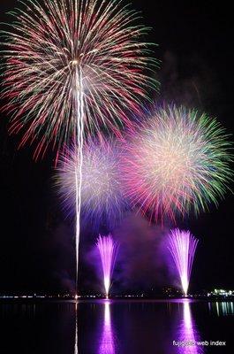 山中湖報湖祭の花火