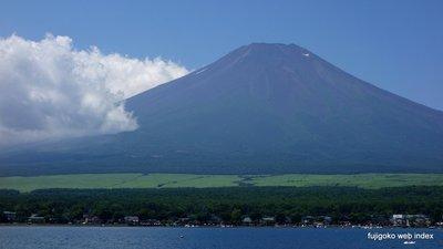 夏休み〜って表情な富士山