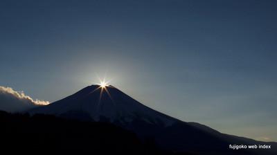 新年初ダイヤモンド富士撮影@忍野