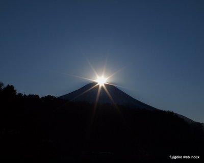 2012年初ダイヤモンド富士撮影@忍野