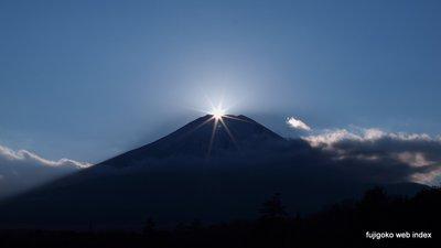 花の都公園からダイヤモンド富士