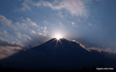 今日のダイヤモンド富士〜彩雲と