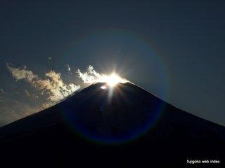 花の都公園からのダイヤモンド富士