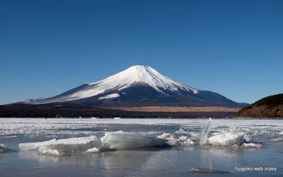 かなり凍ってる@山中湖平野地区