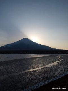 今日の氷@山中湖