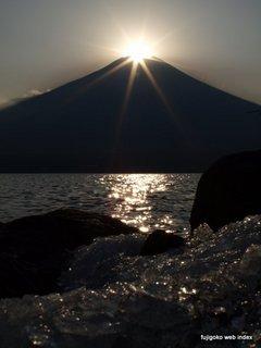 大賑わい〜ダイヤモンド富士@山中湖