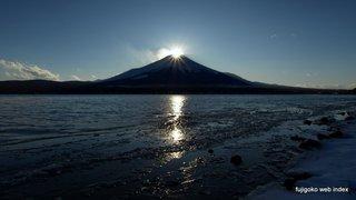 長池地区からのダイヤモンド富士
