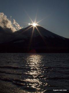 ダイヤモンド富士@山中湖も終盤です