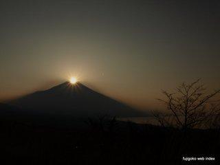 パノラマ台からのダイヤモンド富士
