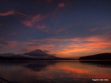 本日の夕焼け@山中湖
