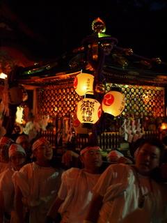 安産祭り 神輿の出発