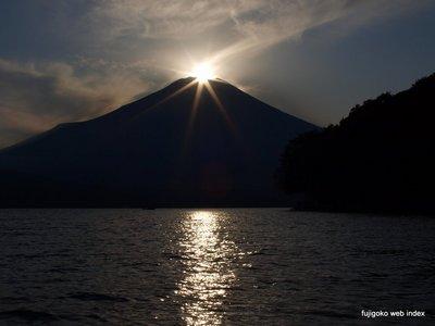 山中湖上からのダイヤモンド富士
