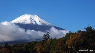 富士山今季二度目の冠雪