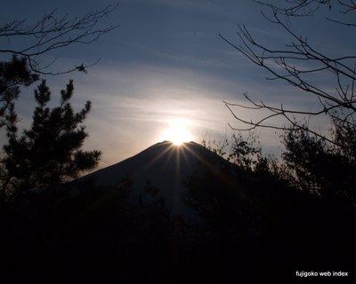 林間からダイヤモンド富士