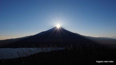 大平山山頂からダイヤモンド富士