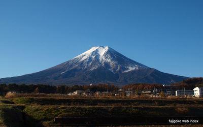 富士吉田から晩秋の富士山