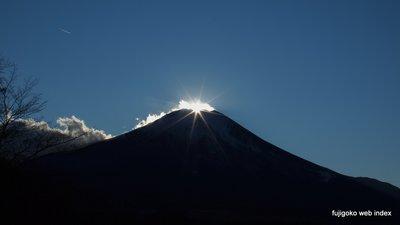 「冬到来」のダイヤモンド富士