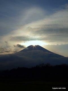 ダイヤモンド富士と彩雲崩れ