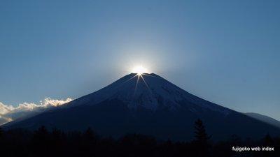 ばっちりダイヤモンド富士@山中湖