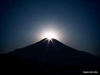 今日も忍野のダイヤモンド富士