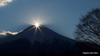 冬至前のダイヤモンド富士