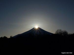 冬至のダイヤモンド富士