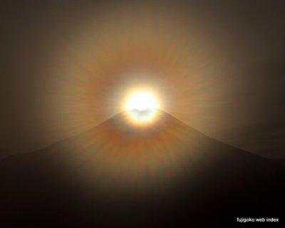 冬至のダイヤモンド富士@山中湖