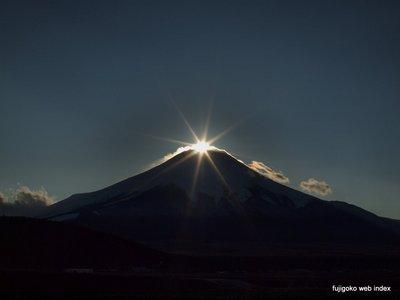忍野からのダイヤモンド富士