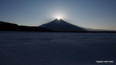 忍野村からのダイヤモンド富士
