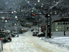 富士吉田市内の道路状況