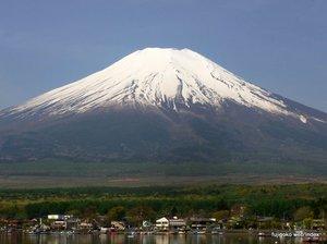 富士山の残雪