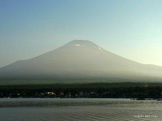 夕暮れ前の富士山@山中湖