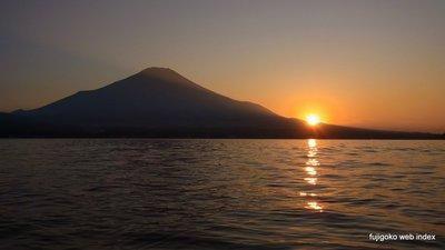 秋の夕暮れ@山中湖