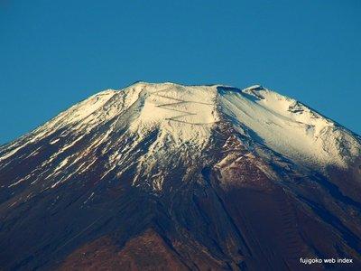 冷え込んだぶん富士山は綺麗だ