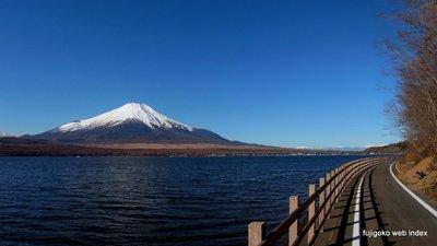 山中湖サイクリングロードから